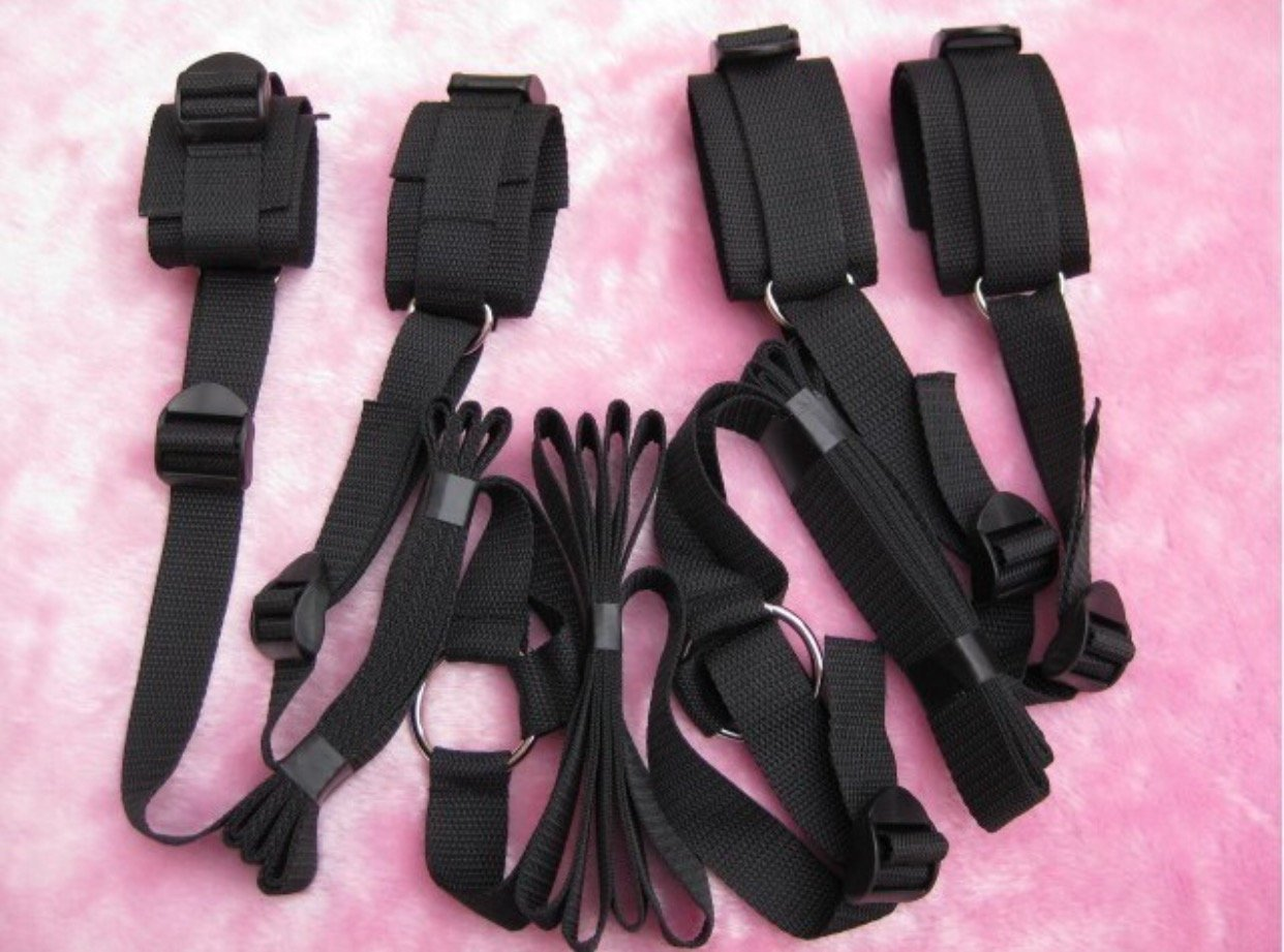 Bedroom restraint cuffs and straps